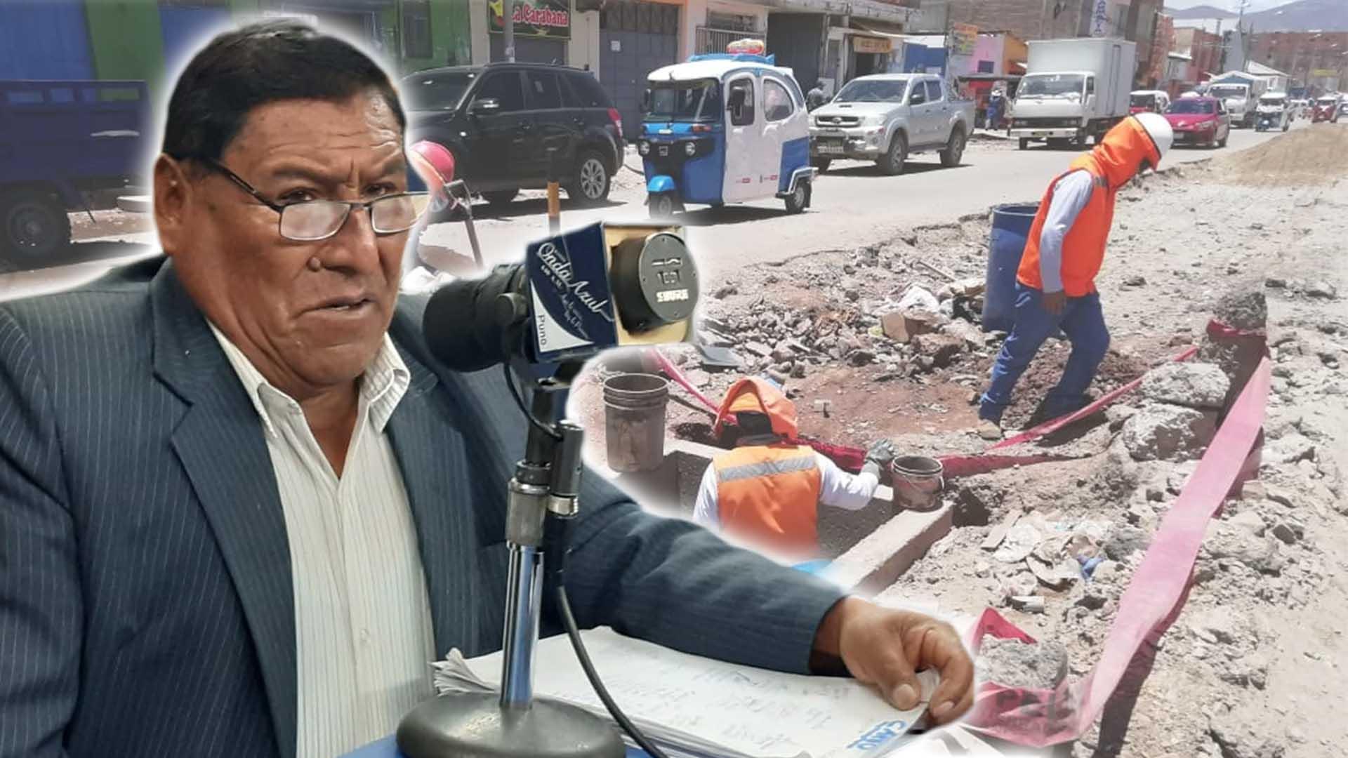 Regidor de la Municipalidad de Puno afirma que avenida Simón Bolívar será concluido para el 2 de febrero - Radio Onda Azul