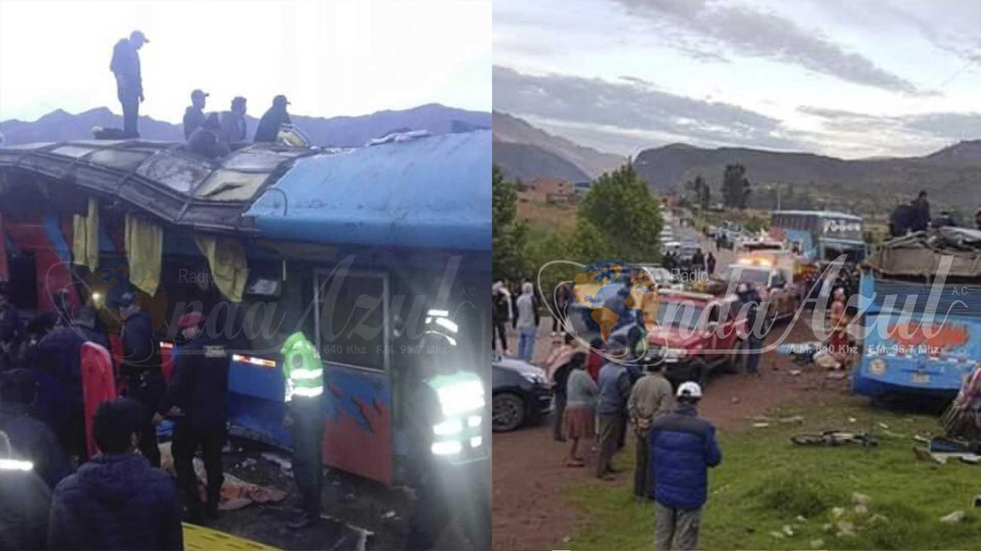 Mueren siete personas tras caer por un barranco un autobús en Perú