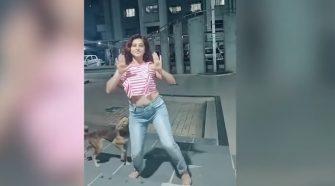 Perro callejero mordió a joven en plena coreografía