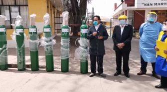 Ángeles de la Caridad y la Música donan balones de oxígeno