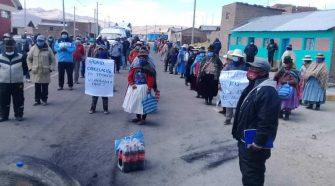 Pobladores y dirigentes acuerdan realizar protesta.