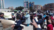 Trabajadores de salud protestan.