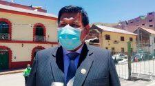 Presidente de la Central de Barrios de la provincia de Yunguyo, Juvenal Laurente