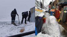 Intensas nevadas en La Rinconada