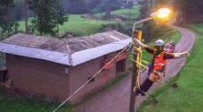Servicio eléctrico en la provincia Lampa