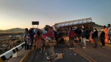 Accidente de tránsito en el puente de Cutimbo-Puno