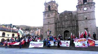 Militantes de Pedro Castillo se movilizaron en la ciudad de Puno