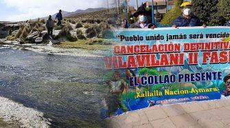 Protestas contra el proyecto Vilavilani II fase I -Puno