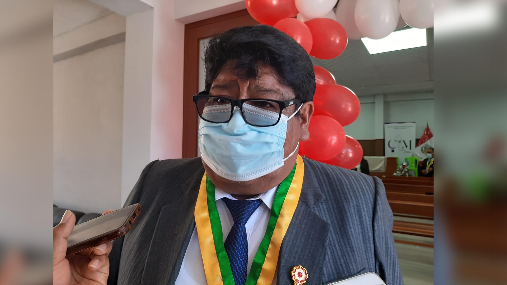 Alcalde del centro poblado de Salcedo, Heber Ramos