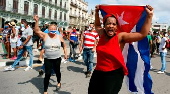 Manifestación en Cuba