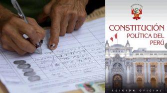 Recolección de firmas para el cambio de la Constitución