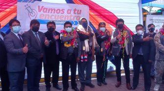 Ceremonia del lanzamiento de una nueva jornada de vacunación contra el Covid-19