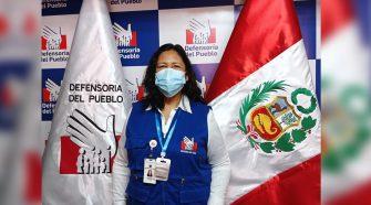 La comisionada de la Oficina Defensorial de Puno, Trinidad Carlos