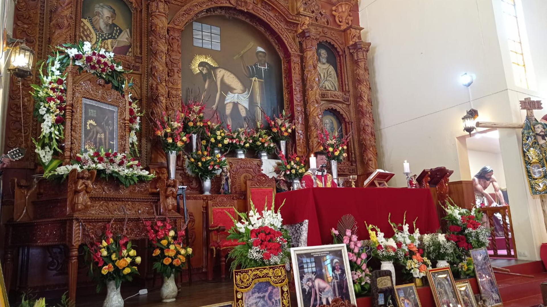 Misa de fiesta del Señor de Huanca