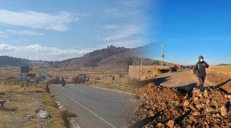 Primer día de paro tenientes gobernadores de Huancané