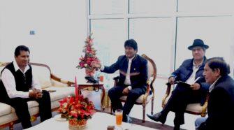Proyecto de gas vía ducto encuentro Evo Morales y Walter Aduviri