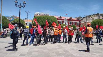 Protesta de los trabajadores de Construcción Civil Puno